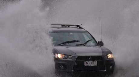 More to Come: Wet weather in Maroochydore. Photo: John McCutcheon / Sunshine Coast Daily