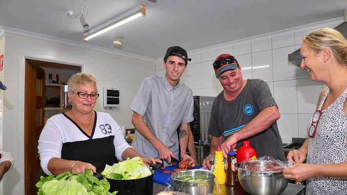 GOOD CAUSE: Nick Royal, pictured with Trudy Wilshire, Ben Cloonan and Hetty Henson in the Maroochydore Neighbourhood Centre kitchen, organises a free three-course meal once a week for homeless people.