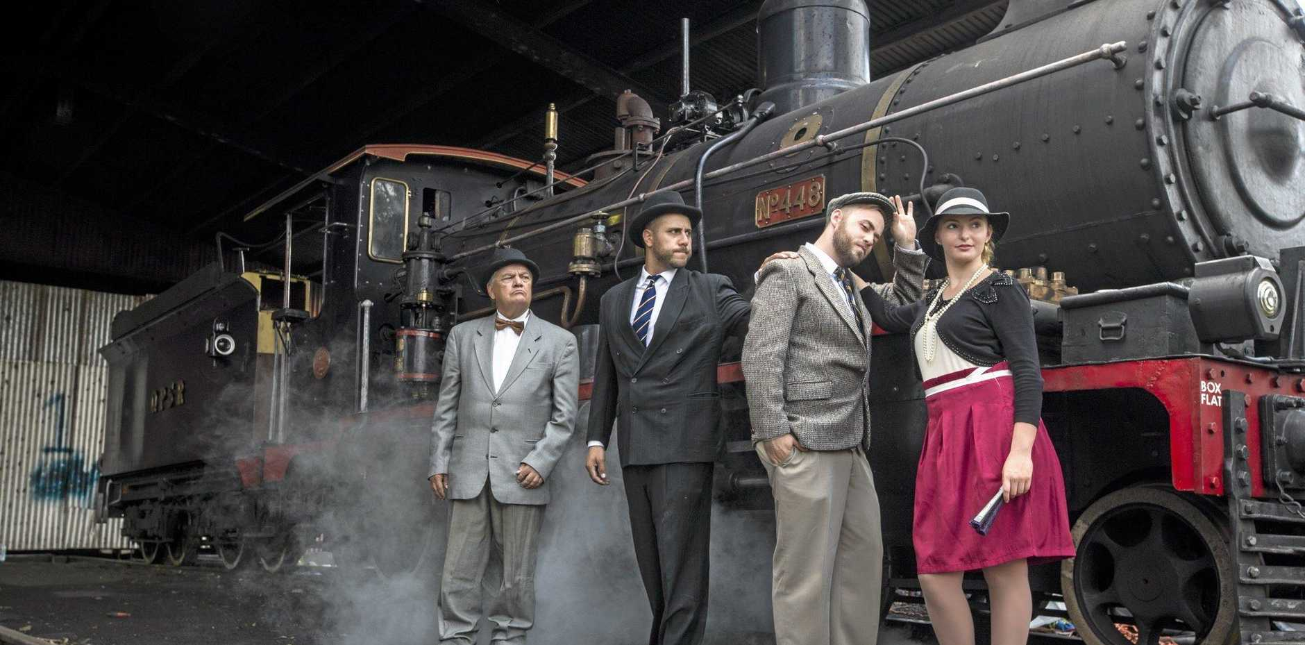 WHODUNIT: Queensland Pioneer Steam Railway and Inside Outside Theatre Company host a Murder Mystery Train.