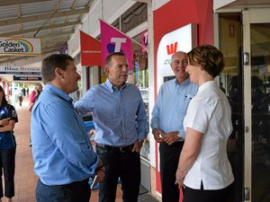 Abbott campaigns in Cooroy