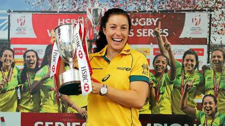 Roma girl Emilee Cherry and the Australian women's sevens team will go into the Rio Olympics as Gold Medal favourites after taking out their maiden World Sevens Title.