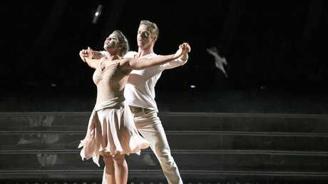 DANCE MAGIC: Bindi Irwin and Derek Hough perform on Dancing With The Stars in the US.