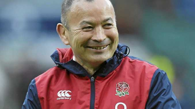 England coach Eddie Jones was stopped by customs officers at Brsibane Airport.