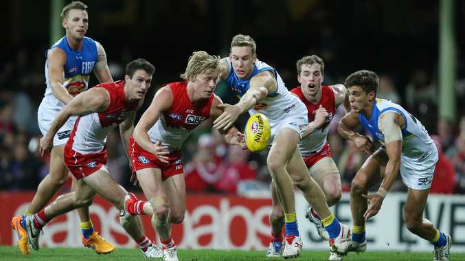 The Suns in action against the Swans last season. Photo: AAP Image