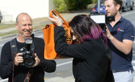 Nicole Lee Meninga outside Ipswich Courthouse on Thursday.