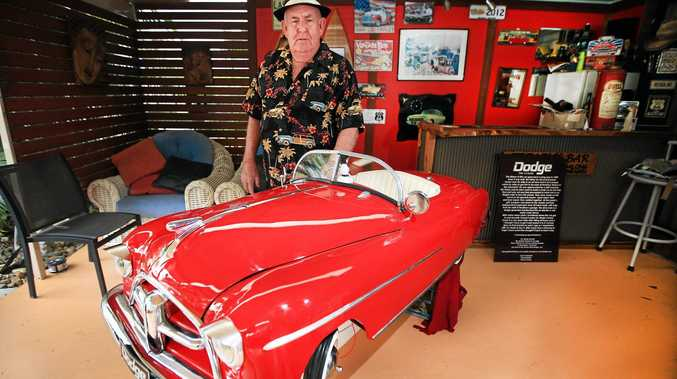 DODGEM CARS: Leon Treadwell from Tweed Heads has finished restoring a 1/3 scale Mini Dodge car originally built in 1949.