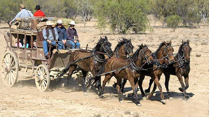 The Kinnon family's stagecoach re-creation is an exhilarating ride powered by five Clydesdales.