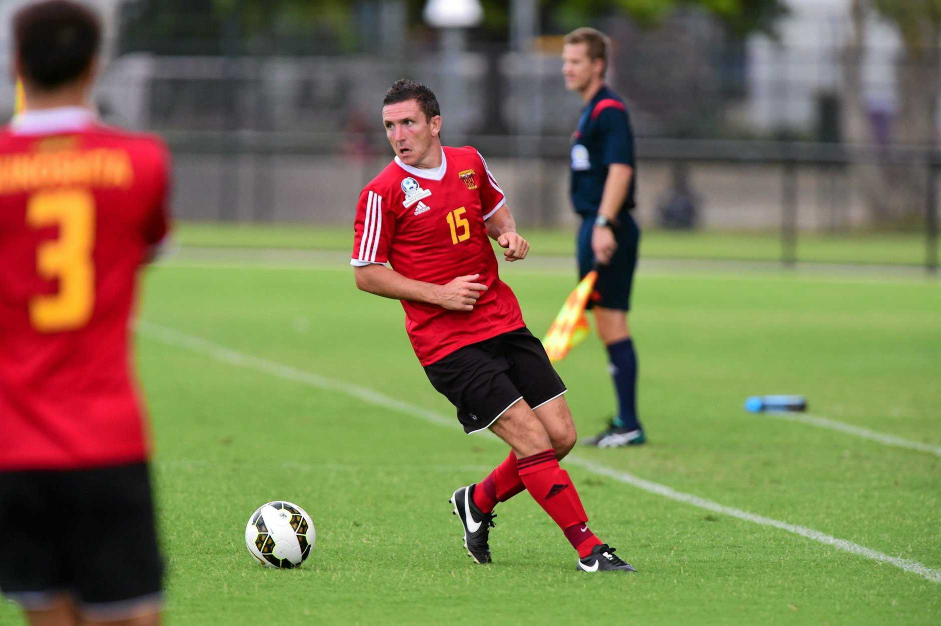 Paul Arnison pictured last year in action for the Sunshine Coast Fire against Palm Beach at Sunshine Coast Stadium.Photo: Iain Curry / Sunshine Coast Daily