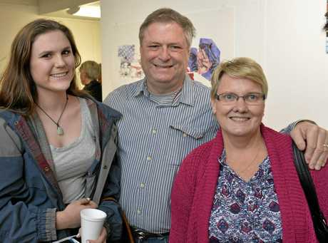 Enjoying the Toowoomba Hospice Concert last year are (from left) Brie Smith, Greg Smith and Sue Smith.