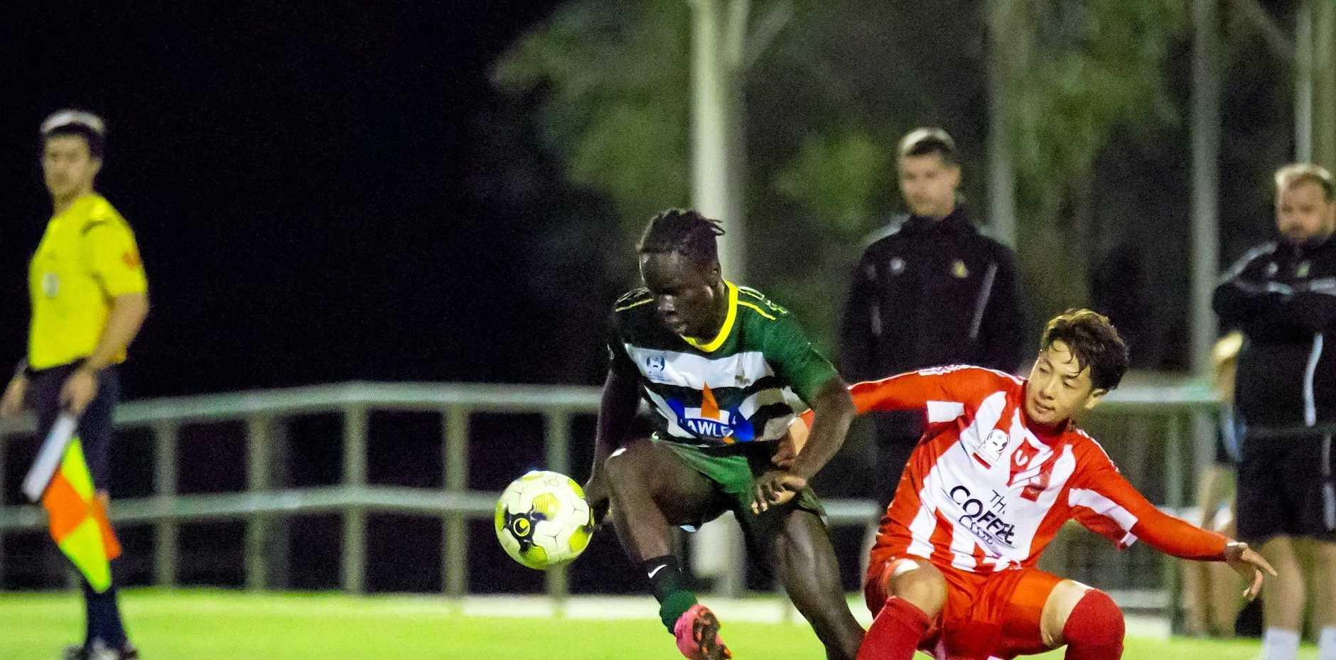 Western Pride footballer Bonventure Thomas-Remijo.