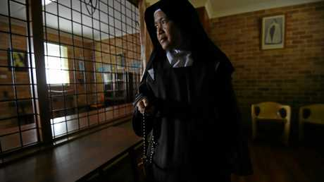 Sister Stephanie Marie in the visitors area.