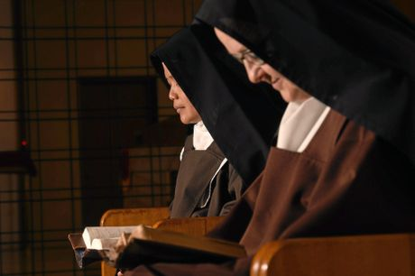 The Carmelite Monastery nuns spend much of their day in prayer.