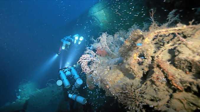 Divers at the USS Atlanta.