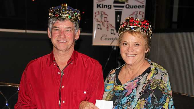 RSL King and Queen of Karaoke in Gympie Keith Souter Annie Longmore.