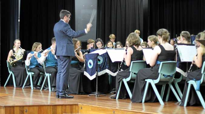 The concert band.