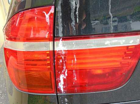 George Chapman's car has been damaged with paintstripper while he is visiting his son, Col, at Maroochydore.