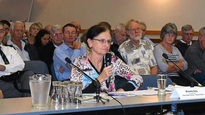 LAND CLEARING HEARING: Gympie Koala action group co-ordinator Michelle Daly talks at the Gympie hearing for land holders affected by new vegetation laws.