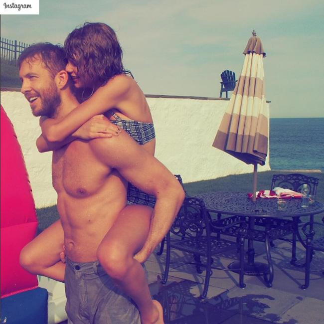 Calvin Harris and Taylor Swift (c) Instagram
