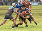 Eric Donaldson for Toowoomba Rangers goes against USQ in Downs Rugby Risdon Cup round nine rugby union at Gold Park, Saturday, June 4, 2016.