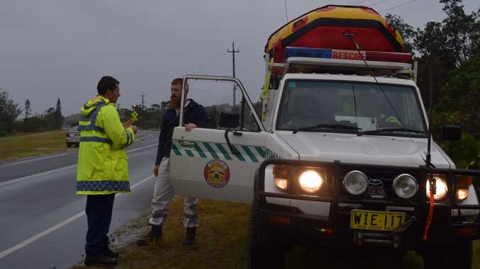 Emergency Services converge at Fingal Head this afternoon.