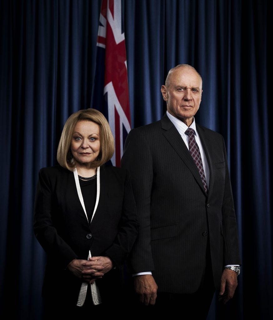 Jacki Weaver and Alan Dale star in the TV series Secret City.