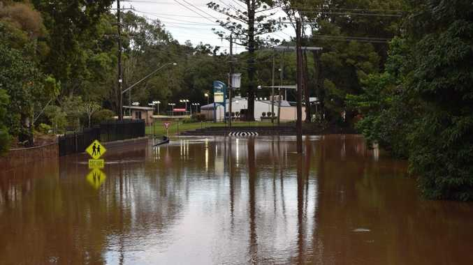 Images taken of flooding around Lismore on Sunday morning June 5 2016 after a deluge of rain across the Northern Rivers.
