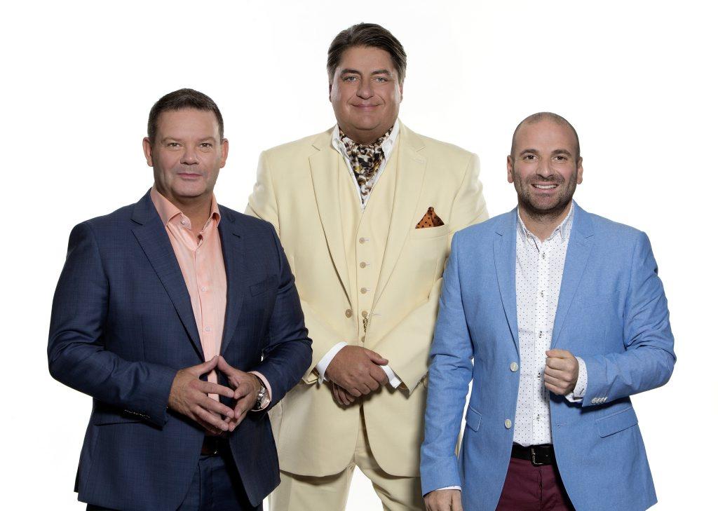 MasterChef Australia hosts Gary Mehigan, Matt Preston and George Calombaris.