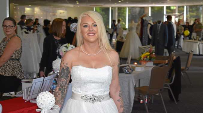 DRESSED TO IMPRESS: Model Beth Power from Models by Theresa-Anne wears a dress from Mary Vidler Bridal during the annual Rotary Bridal and Events Fair.