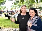 BLUE SKIES FOR RELISH: Sharon Ryan and Debbie Bates enjoyed the great food and wine on offer at Relish food and wine festival, in Maryborough yesterday.