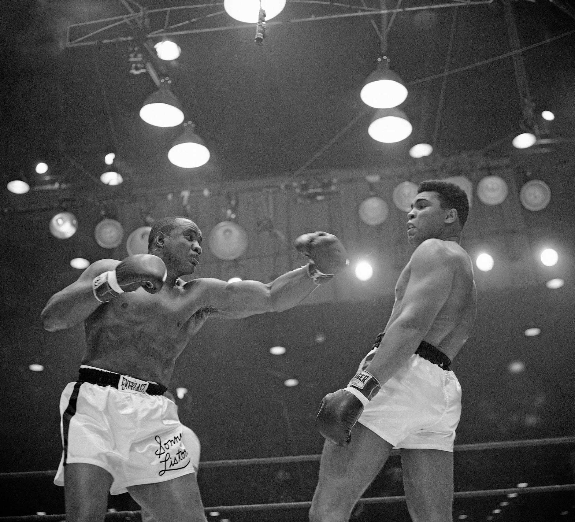 Muhammad Ali in action against Sonny Liston in 1964.
