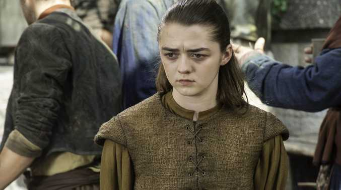 Maisie Williams as Arya Stark in a scene from Game of Thrones.