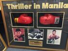 Signed Muhammad Ali and Joe Frazier boxing gloves were among suspected stolen property seized from a Mooloolaba unit.