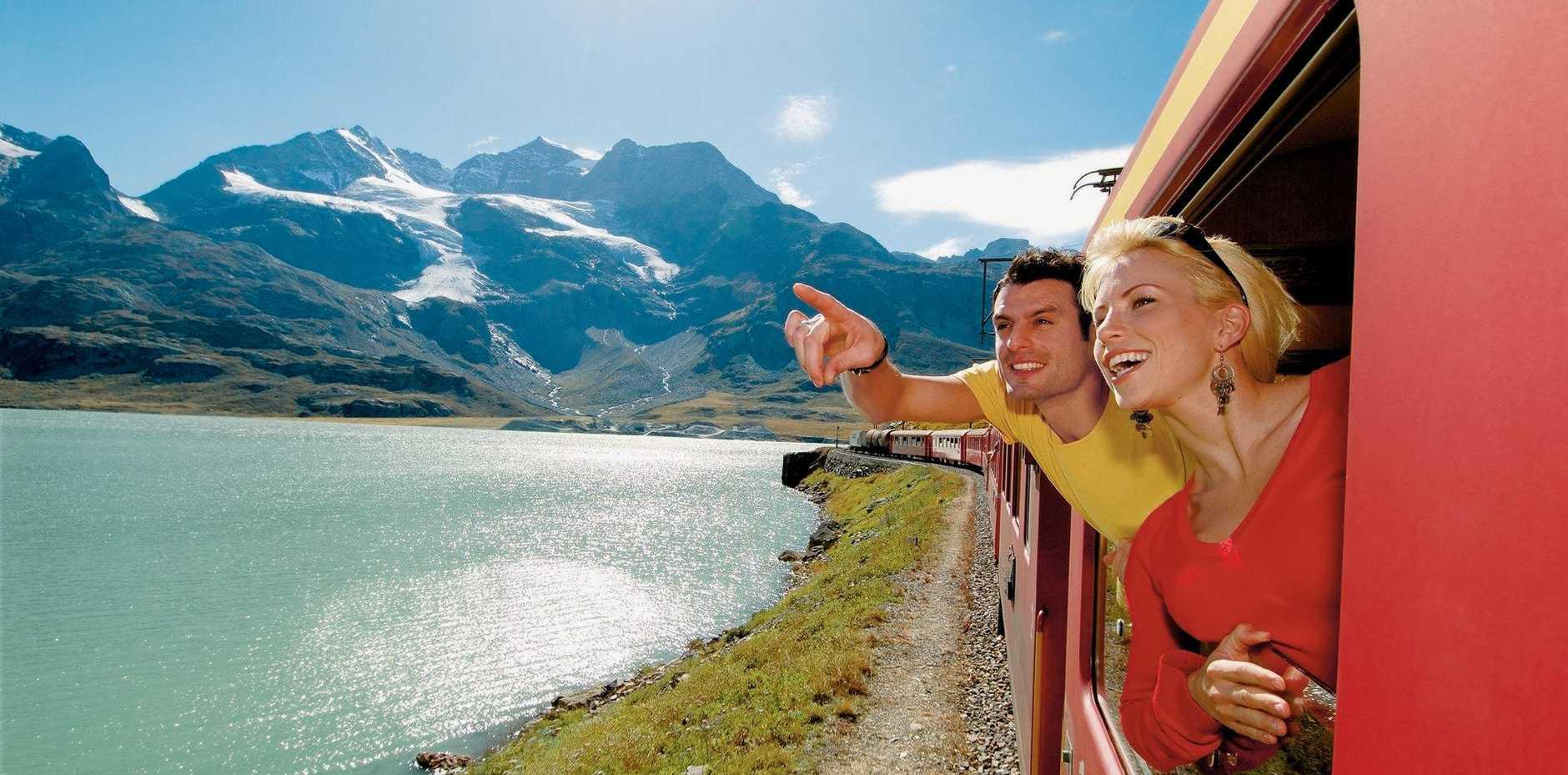 ABOVE: A rail journey through Switzerland makes a unique experience.