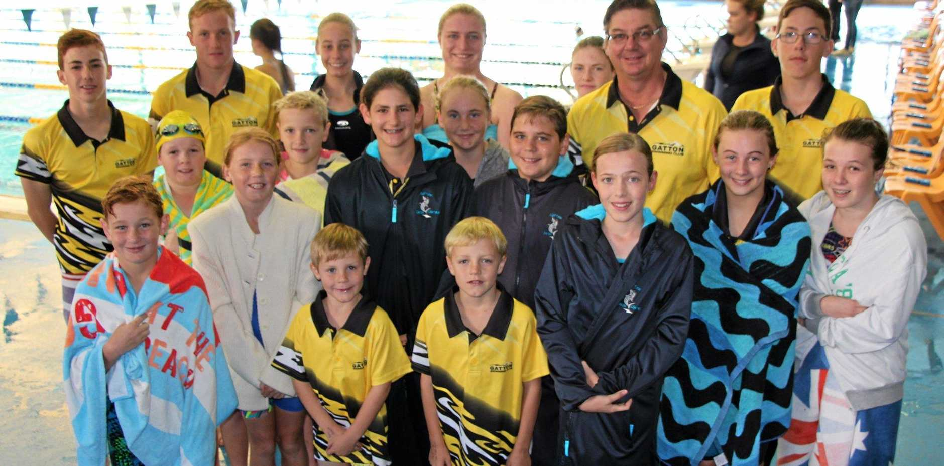 ON TOUR: Gatton Swimming Club members at the Toowoomba competition.