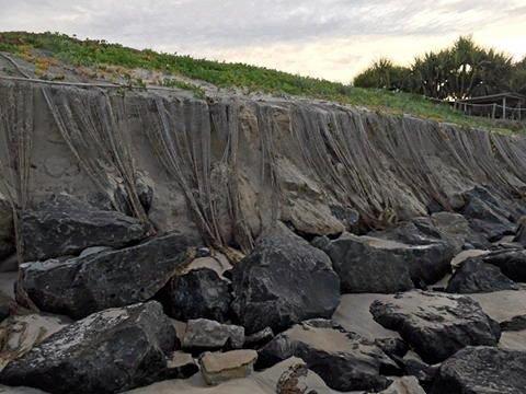 Erosion at Belongil Beach, Byron Bay.