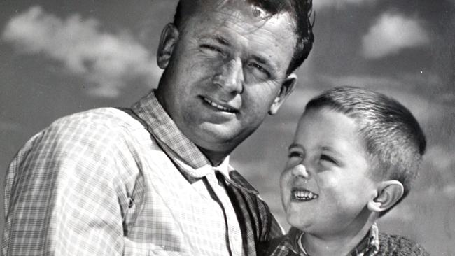 Malcolm Turnbull as a child with his dad Bruce.