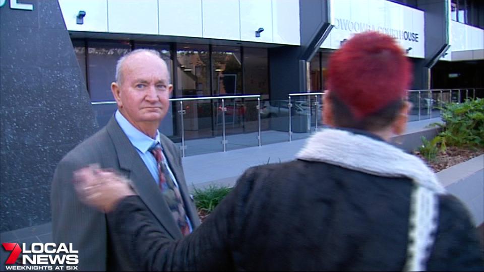 Bill Lynam outside Toowoomba Supreme Court.
