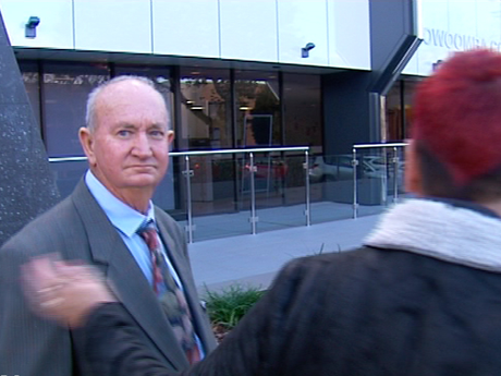 William Neil Clarence Lynam outside Toowoomba Courthouse.