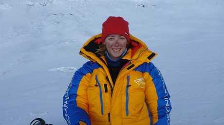 Alyssa Azar on Mt Everest.
