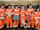 Members of the Ulmarra SES in front of their storm trailer - preparing for upcoming weather this weekend.