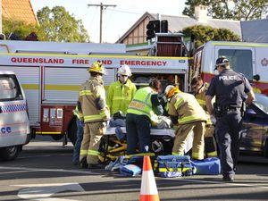 Bike rider injured in Toowoomba CBD crash with car