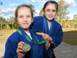 Sisters Olivia and Sophia go to battle in judo ring