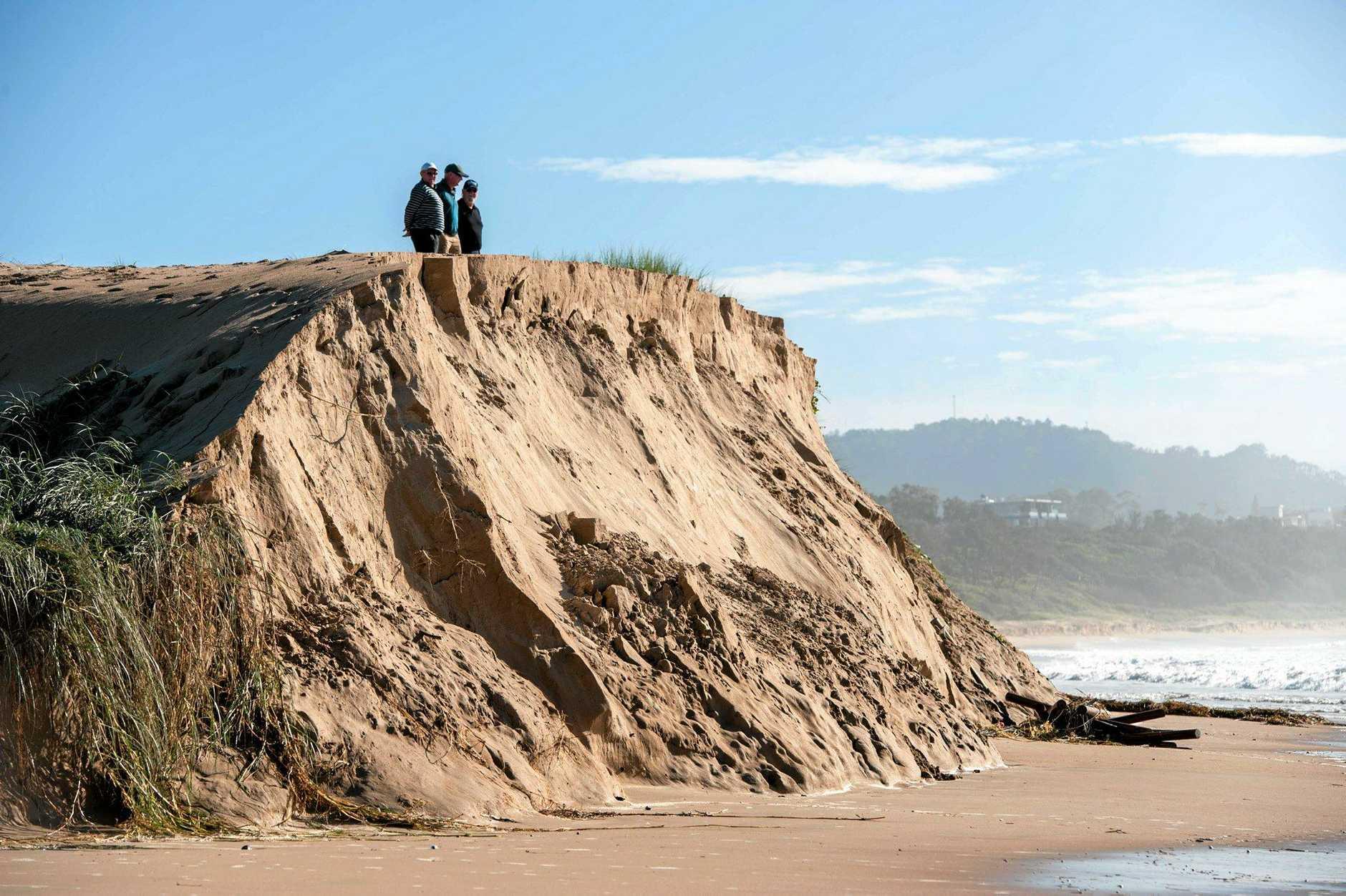 Coastal erosion on Park Beach.