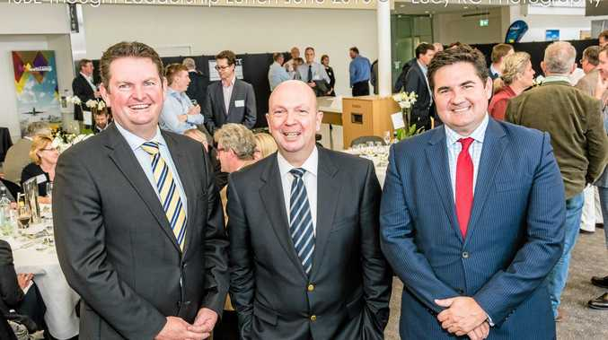 TSBE Chair Shane Charles, Guest Speaker and Origin Energy and Woolworths Chairman Gordon Cairns, and TSBE CEO Dr Ben Lyons.