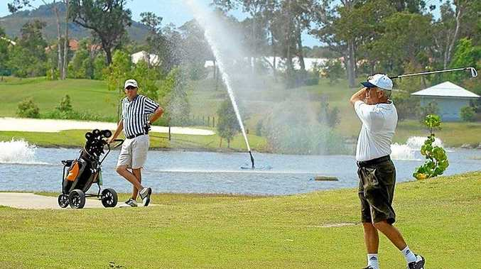 Happier times at Peregian Springs Golf Club. Photo Contributed