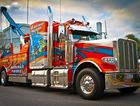 This Truck Factory 389 Peterbilt won best graphics or signwriting at the mannum truck and ute show last year.