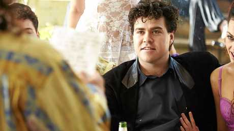 Andy Ryan in a scene from the TV mini-series Never Tear Us Apart: The Untold Story of INXS.