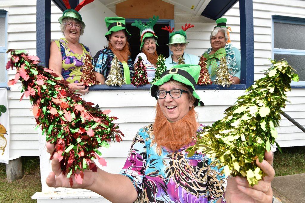 Howard QCWA Irish Xmas in June - president Judy Sheean with (L) Phyllis Cooper, Karyn Dudley, Bernie Pearce, Elizabeth Proctor and Barbara Trevaskis.Photo: Alistair Brightman / Fraser Coast Chronicle