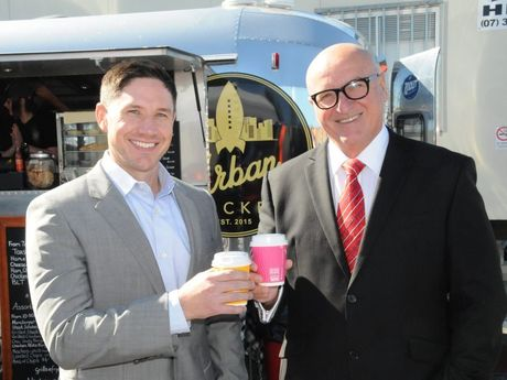 Nexus chief executive officer John Hagan and chairman John Witheriff at their Bedford St headquarters.