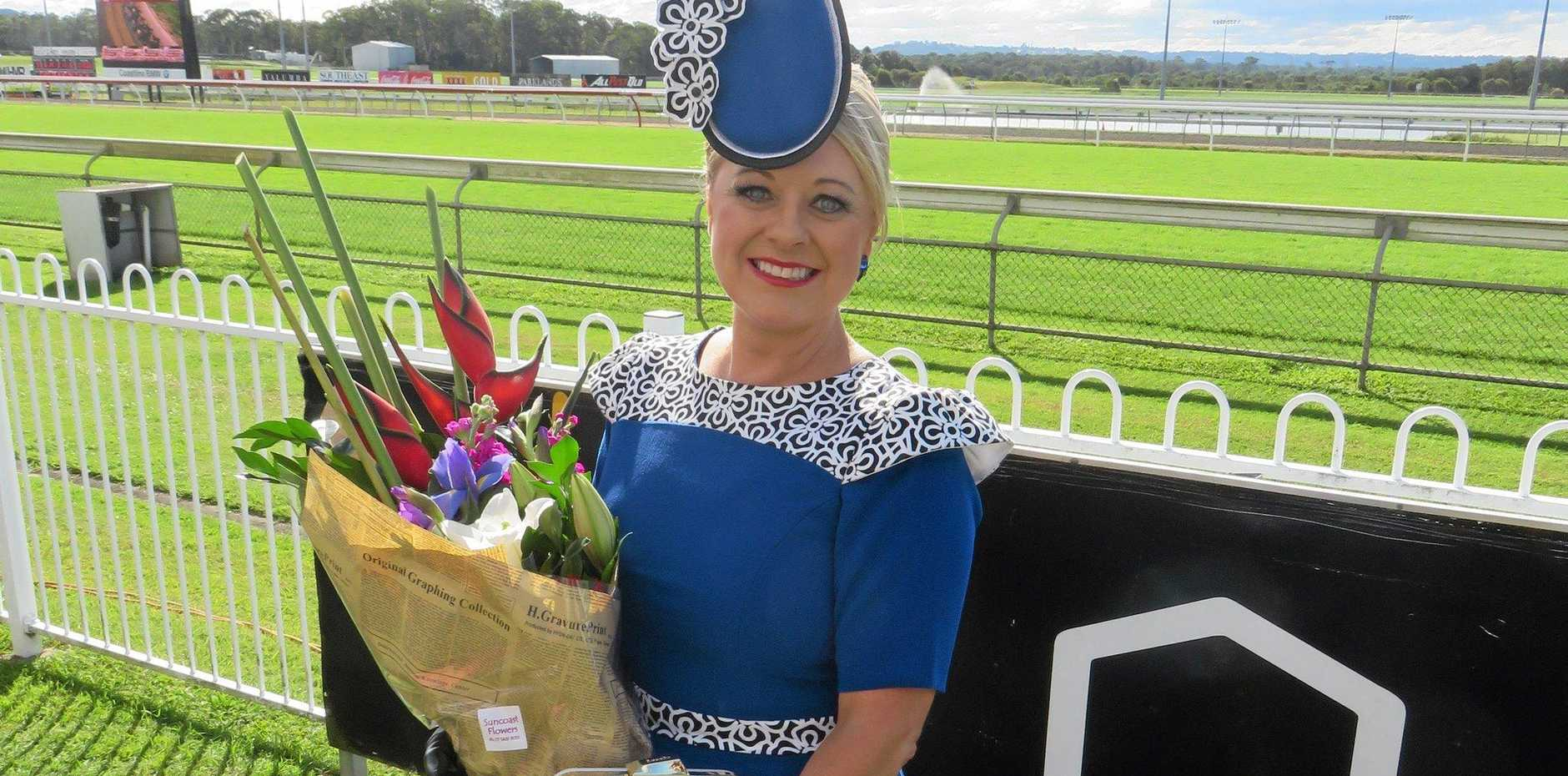 HIGH STAKES: Eliza Icke won the fashions on the field at the recent Ladies Oaks Day.